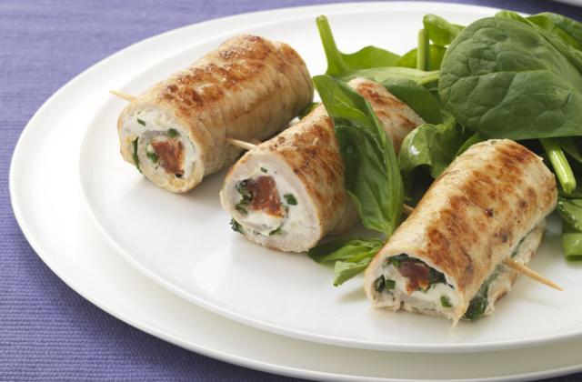 Saltimbocca de veau et de chorizo au Boursin cuisine ail & fines herbes - Photo par Boursin® Cuisine