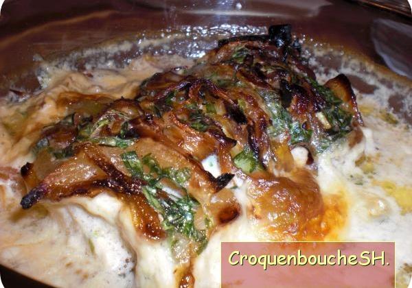 Cabillaud gratiné aux oignons - Photo par membre_247110