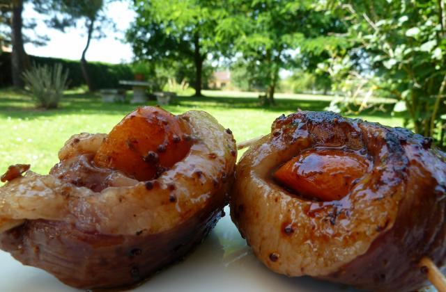 Brochettes de magret de canard aux abricots à griller - Photo par Choupette82