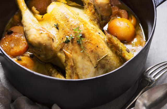 Poulet aux abricots et au cidre - Photo par Interfel