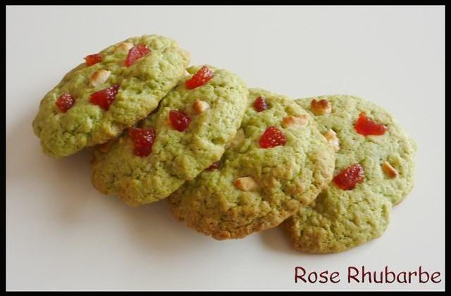 Cookies moelleux pistache aux éclats de fraises et chocolat blanc - Photo par Membre_248867