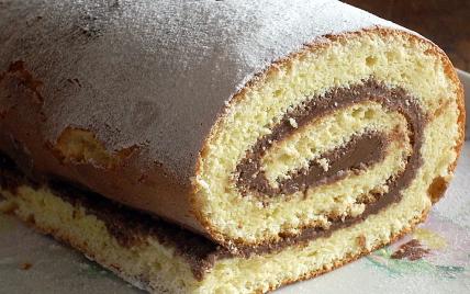 Gâteau roulé au Nutella - Photo par La soupe à la citrouille