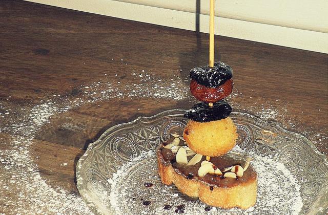 Montaditos de cromesquis, sur un air de pastilla marocaine - Photo par La petite cuisine de Sabine