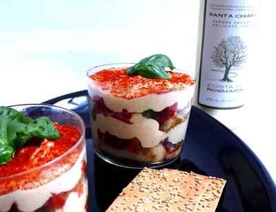 Tiramisu au parmesan et tomates confites - Photo par Bouchard