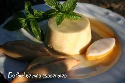 Panacotta aux calissons et navettes à la fleur d'oranger - Photo par Du fond de mes casseroles