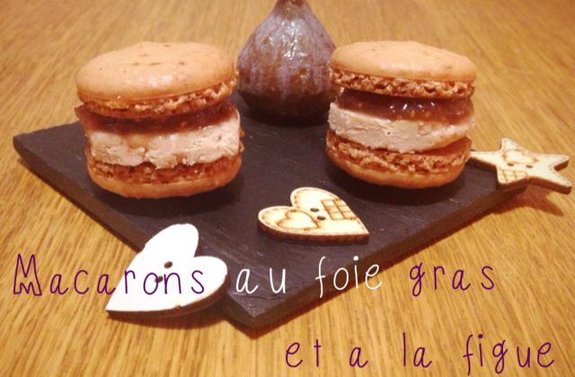 Macarons au foie gras et à la figue - Photo par Carottesjaunestomatesroses