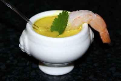 Soupe de coco et crevette au coriandre - Photo par madoud