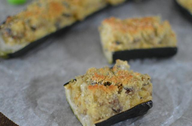 Courgettes farcies aux champignons et mayonnaise de Dijon Amora - Photo par Amora