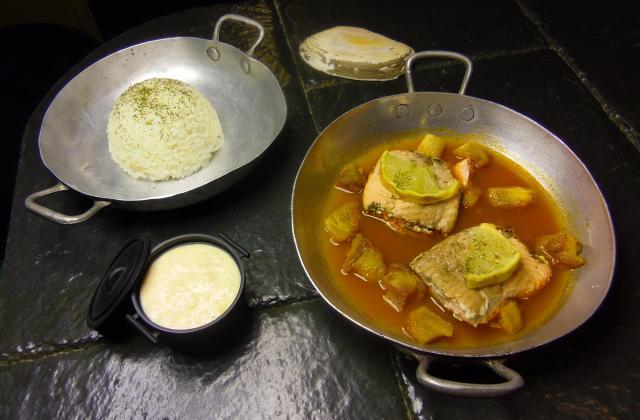 Pavé de saumon et sa déclinaison du Kaki - Photo par angoli