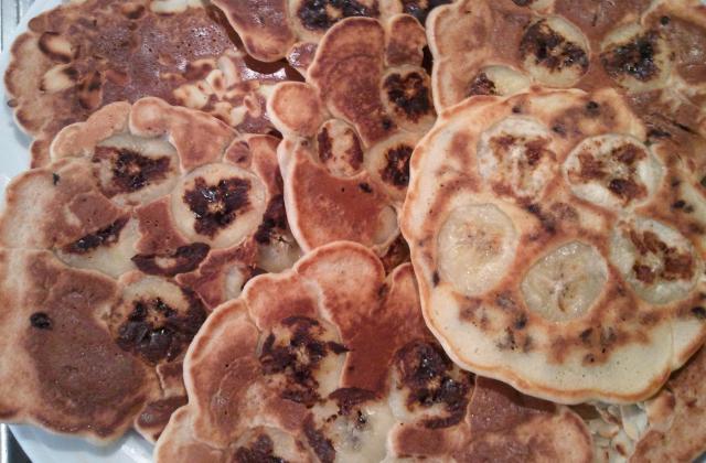 Pancakes aux pépites de chocolat et banane - Photo par Nuage de Lait
