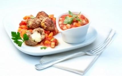 Boulettes hachées farcies et sauce aux légumes et gruyère AOC - Photo par gruyer