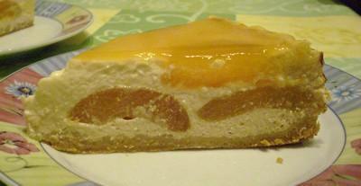 Cheese cake vanillé à l'abricot - Photo par cojoca