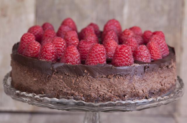 Fondant au chocolat noir et aux framboises - Photo par nathalqKM