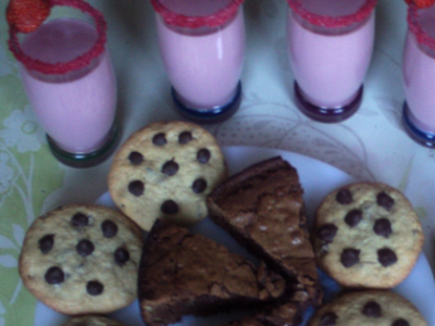 Brownies, cookies et milkshake - Photo par alex67340
