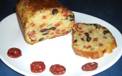 Cake au chorizo olives - Photo par annabez