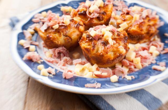 Muffins jambon et  fromage à raclette RichesMonts - Photo par 750g