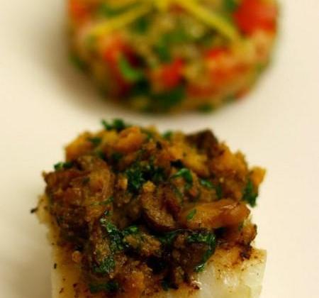 Cabillaud en croûte de champignons aux marrons - Photo par CuisinonsEnCouleurs
