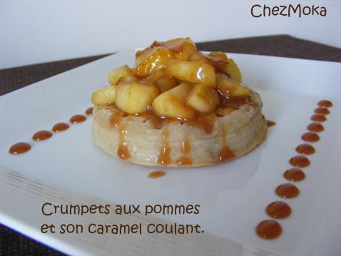 Crumpets aux pommes et caramel - Photo par mokami