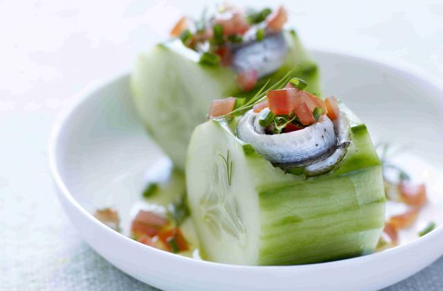 Bouchées apéritives aux sardines - Photo par Concombres de France