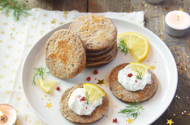 Blinis de sarrasin & cheese cream - Photo par Angélique Roussel pour Soy