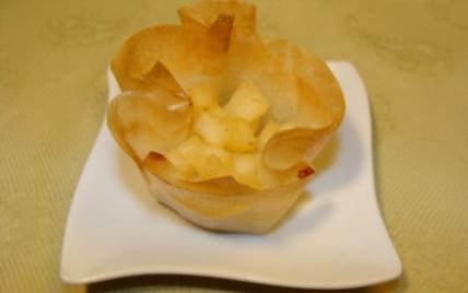 Croustillant de boudin blanc aux pommes - Photo par alchimie.gourmande