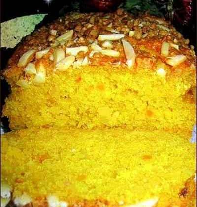 Cake au potiron et aux amandes - Photo par decure