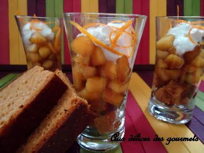 """Pain d""""épices et pommes caramélisées à la vergeoise - Photo par fimere2"""