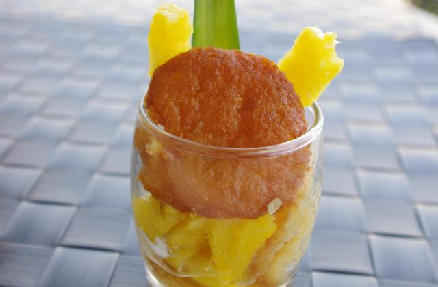 Verrine ananas et petit cake citron - Photo par elisedr
