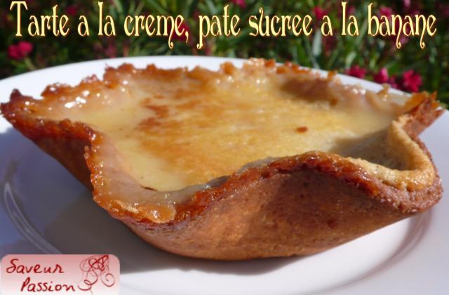 Recette Tarte A La Creme Sur Pate Sucree A La Banane 750g