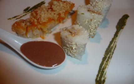 """Haddock et ses Makis Californiens, """"Crème"""" de Riz au Lait Chocolaté - Photo par benoitE9w"""