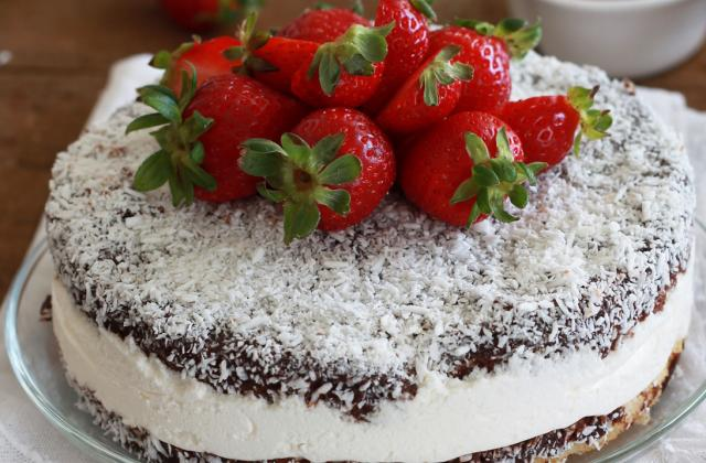 Lamington cake sans gluten - Photo par Sonia