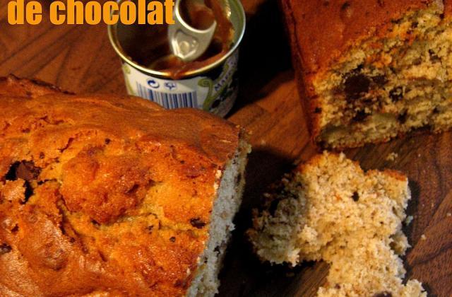 Cake parfumé à la crème de marron, aux pépites de chocolat et aux pommes - Photo par membre_253695