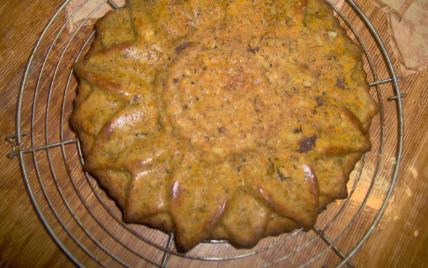 Gâteau aux carottes, raisins et noisettes - Photo par timotheh
