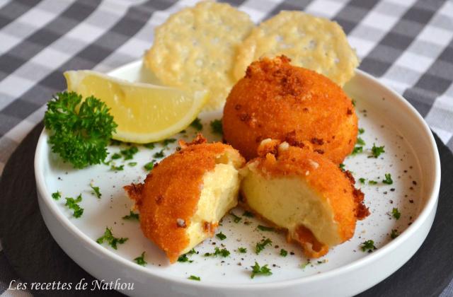 Croquettes au fromage et tuiles de parmesan - Photo par Invité