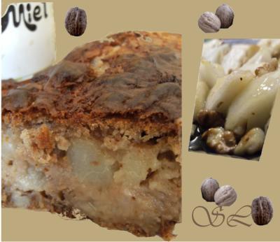 Gâteau miellé aux poires et aux noix - Photo par Blog d'Elisa