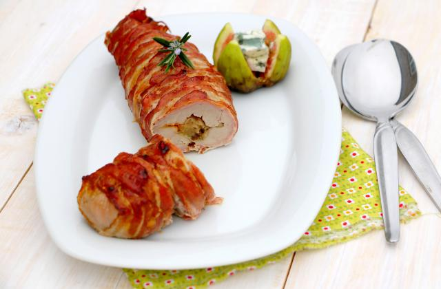 Filet mignon de porc farci au roquefort et figues fraîches - Photo par Roquefort Société