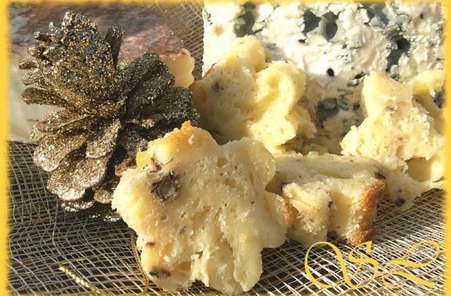 Cake festif Roquefort, Saint Nectaire et noix de Pécan - Photo par Blog d'Elisa