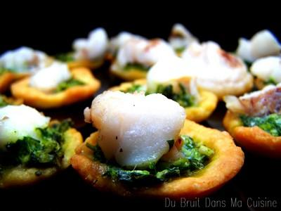 Tartellettes de lotte au pesto - Photo par audese
