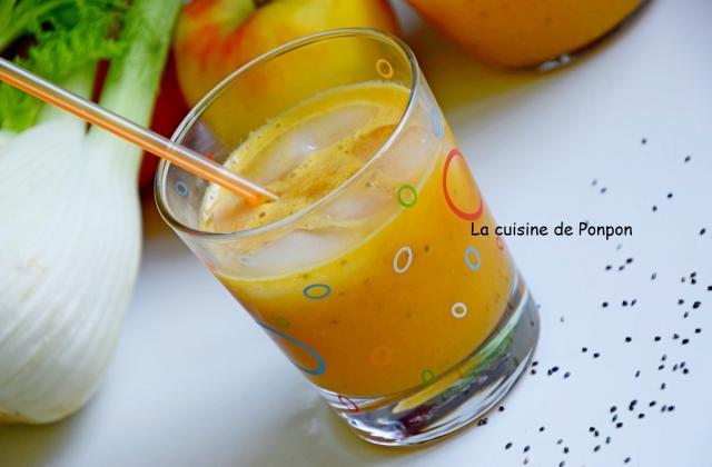 Jus vitaminé pomme, fenouil et graines de chia - Photo par Ponpon