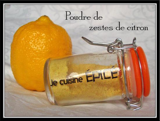 """Poudre de zestes d""""agrumes séchés - Photo par Lilouina"""