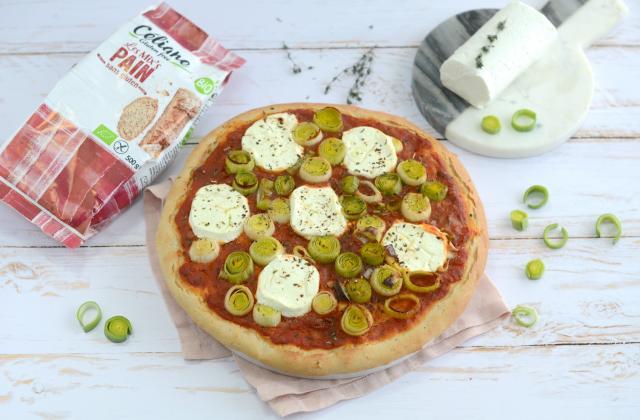 Pizza sans gluten aux légumes et au chèvre - Photo par Nadia Paprikas
