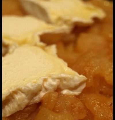 Tarte tatin de pomme au chaource - Photo par mimilafee