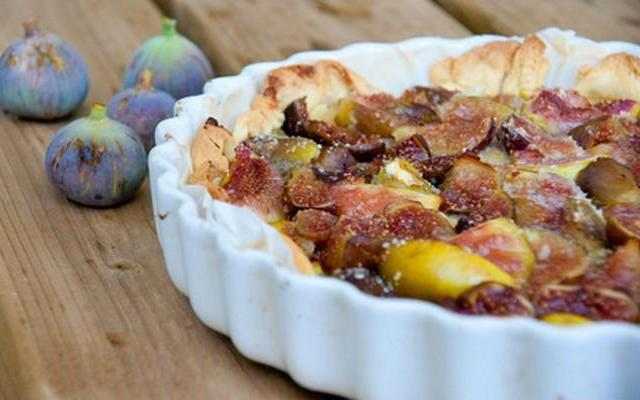 Tarte aux figues - Photo par Anne-Claire LECOMTE