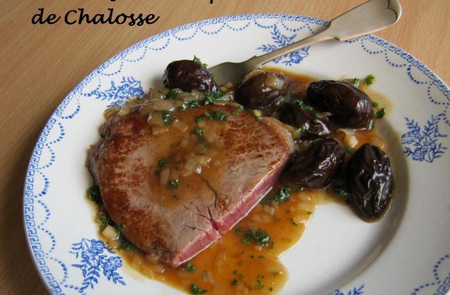Tournedos de boeuf de Chalosse aux pruneaux - Photo par ciorane.59