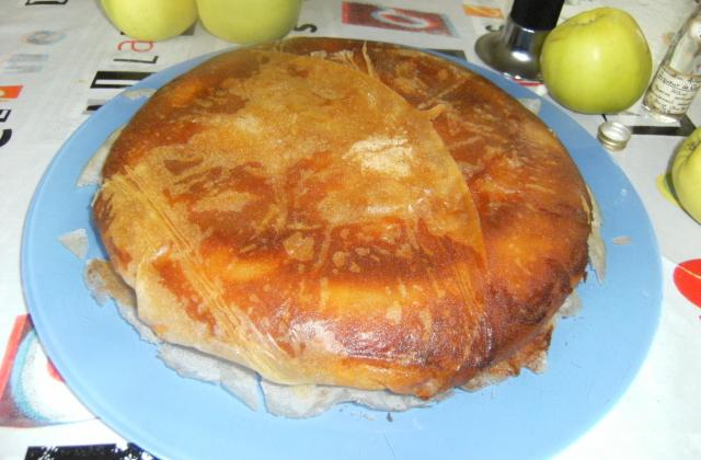 Croustillant de brick aux pommes et à la crème d'amandes - Photo par bluena