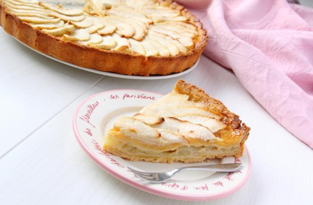 Tarte sablée aux pommes et crème pâtissière - Photo par jennifer oliver