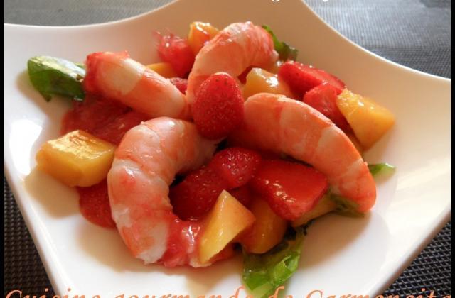 Salade de crevettes au vinaigre de framboises - Photo par Carmen