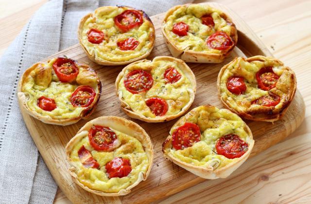 10 mini tartelettes sucrées ou salées faciles à faire sans pâte à tarte - Photo par 750g