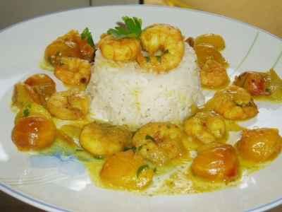 Crevettes aux mirabelles et au curry - Photo par newelm