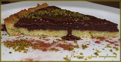 Tarte Chocolat - Pistache - Photo par cuisinertoutsimplement